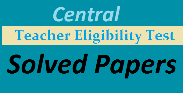 CTET Solved papers
